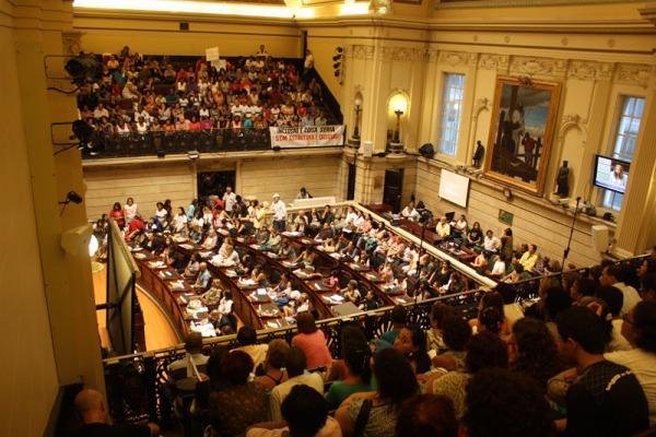 Plenário e Galerias Cheias Educação Inclusiva