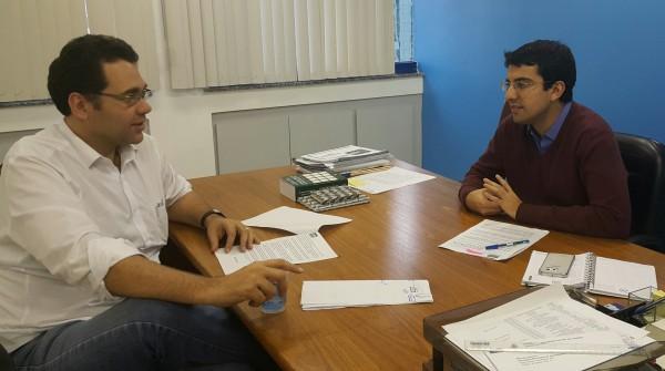 Reunião com o Secretário Municipal de Administração, Marcelo Queiroz, realizada nesta terça (07/07)